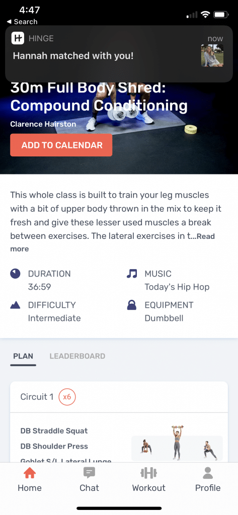 tempo studio app lets you pick classes when you're on the go